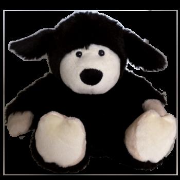 Warmies - grelna igrača ovčka, črna - termofor